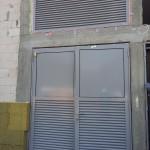 realizacja drzwi stalowe z żaluzjami